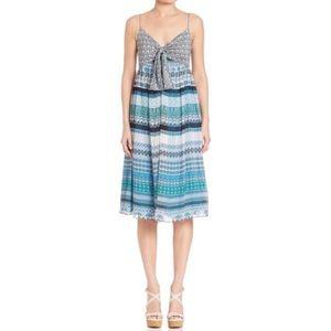 DVF Malina Blue Print Silk Dress